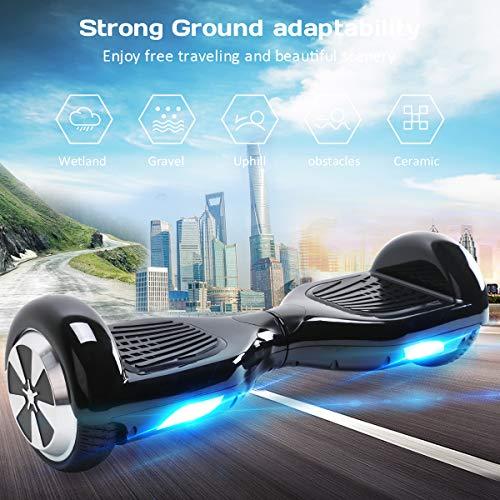 Robway W1 Hoverboard - Das Original - Samsung Marken Akku - Self Balance - 22 Farben - Bluetooth - 2 x 350 Watt Motoren – App - Led (Grün Matt)
