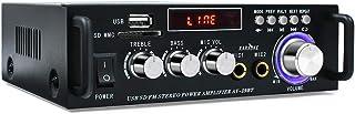Karaoke Wireless Bluetooth 5.0 Stereo Amplifier System – 300W HiFi Dual Channel Sound Power Audio Receiver w/USB,SD Card,F...