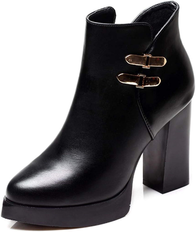 LBTSQ-Stiefel High Heels 9Cm Wild Wasserdicht Spitze Kurze Stiefel Sexy Ma Dingxue  | Bestellung willkommen