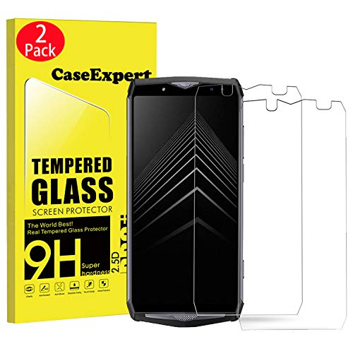 CaseExpert 2 Pack - Ulefone Power 5 Protector de Pantalla, Ultra Tanque Transparente Cristal 9H Cristal Templado Glass Protector de Pantalla para Ulefone Power 5