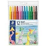 Staedtler 221 NWP12 - Noris Club Wachs-Twister, Wachs-Malstifte, 12 brillante Farben -