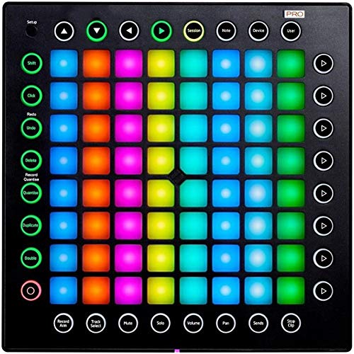 ANZQHUWAI Pro Professional Edition LED Feedback-MIDI-Keyboard-Controller-USB DJ Percussion Bühne Live-Performance-Mixer