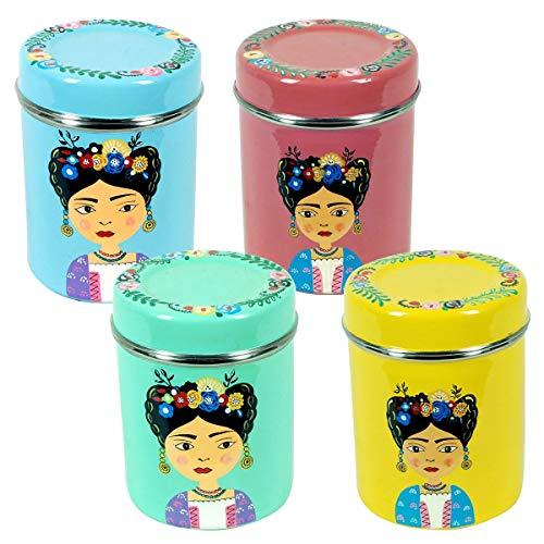 Decor And Go Caja Para Te Frida Incluye 4 Unidades Cocina Mugs Y Vasos Colección India