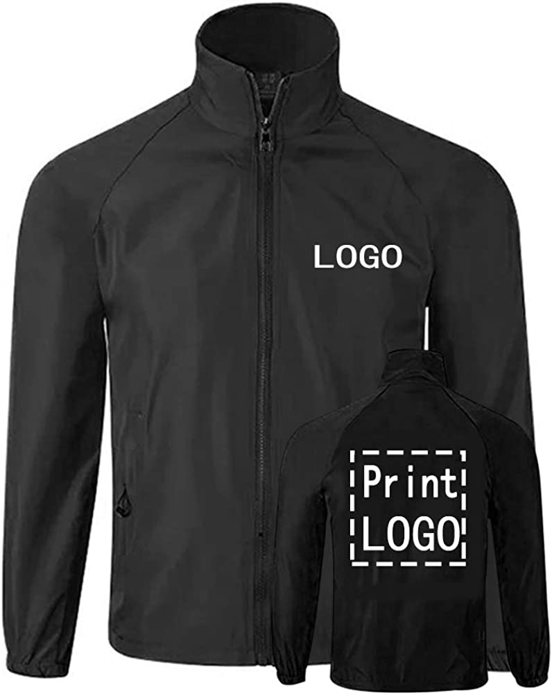 YOWESHOP Long Sleeve Shirts Windbreaker Customize Your Logo Workwear Jackets for Outdoor Team Work Uniform Unisex