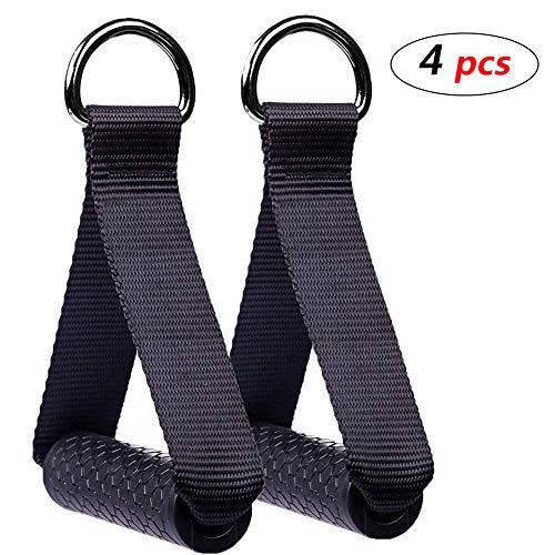 WENTS Griffe für Widerstandsbänder Silikongriffe mit massiven ABS-Kernen, ideal für Workout am Seilzug, Kabelzug oder Kraftturm, Fitnessgeräte für Gym Yoga Krafttraining Röhrengriffe Training