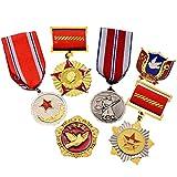 JXS Insignia de Monumento de Guerra Coreana China, réplica de Medalla de Amistad de China-Coreana, Conjunto de 6 Piezas de Insignia de colección de fanáticos Militares