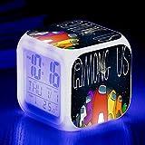 fdgdfgd Número de Reloj Despertador del Juego 3D con termómetro Fecha Reloj LED Reloj Despertador pequeño de Color Creativo