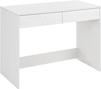 Comfort Bureau pour enfant – Bureau pour studio avec 2 tiroirs, grande surface avec finition en mélamine Table de travail multifonctionnelle. Bureau fonctionnel – Évier nordique.