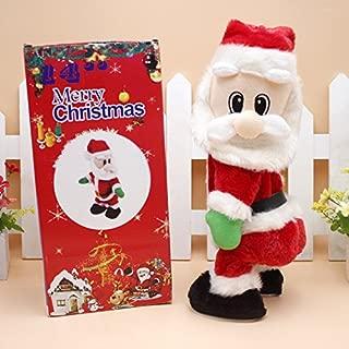 Uheng Twerking Christmas Santa Claus Toys, Musical Shaking Hips Santa Claus Singing Dancing Xmas Electric Plush Dolls Decorations Table Ornaments Thanksgiving Day Gift for Kids