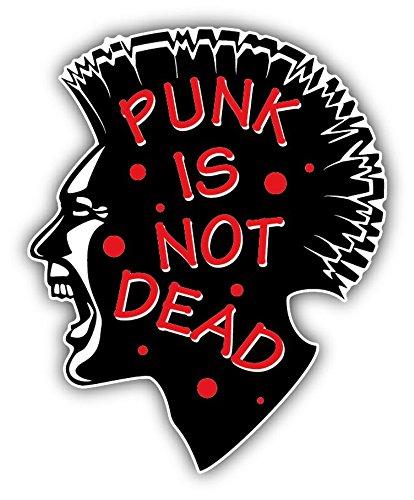 Punk Is Not Dead Head Vinyl Decal Bumper Sticker/Pegatina