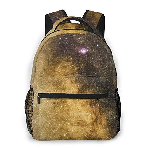 IUBBKI Space Macro Stars Milky Way Sigma 105mm Mochilas Unisex con Correas de Hombro Acolchadas Ajustables Mochila Informal