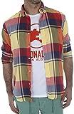 Altonadock PV18275020615 Camisa Casual, Multicolor (Cuadros), Large (Tamaño del Fabricante:L) para Hombre