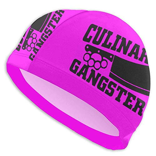 HFHY Culinaire Gangster Adult Summer Swimming Pool Bath Caps for Men Women Unisex
