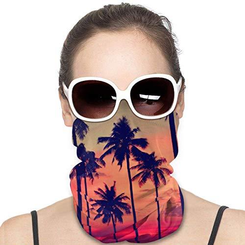 fenrris65 Máscara de palmera de playa, bandanas, pasamontañas, calentador de cuello, diadema para polvo, deportes al aire libre, polvo, sol