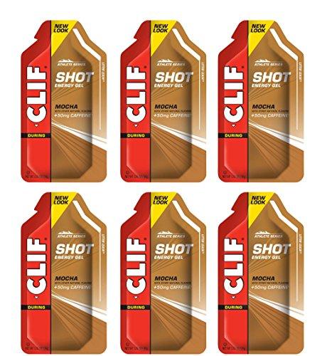 Clif Shot Gel - Mocha - 6 Pack (6 x 1.2oz Packs)