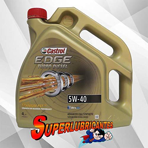 Castrol 77128 Edge Turbo Diesel 5W-40 Fluid titanium technology ,Motoröl Motorenöl 4 L Liter