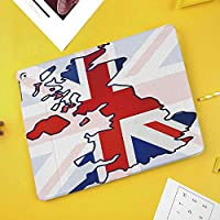 新型iPadケース スマートカバー アイパッドケース タブレットカバー プロ10.5 iPad Pro 10.5 オートスリープ機能 スタンド付き ダイアリー 手帳型 ブ(モデル番号:A1701,A1709)色あせたイギリスの国旗と国の地図構成国シンボル