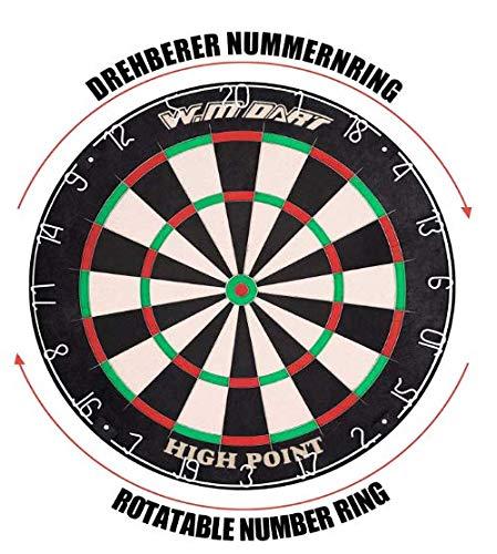 WIN.MAX Bristle Steel Dartboard - 4