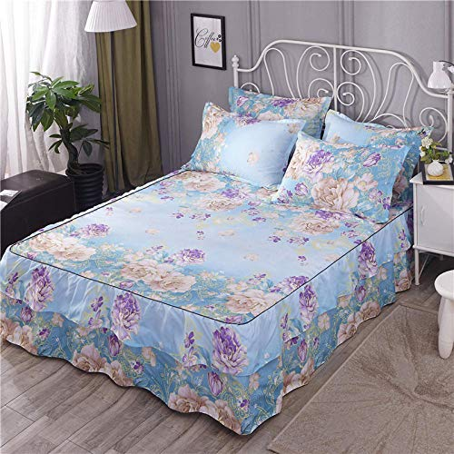 GTWOZNB Non Iron Soft Poly-Cotton Plain Dyed Flat Bed Sheet Single, King Available All-inclusive bed sheet bed skirt-1_1.8 * 2m