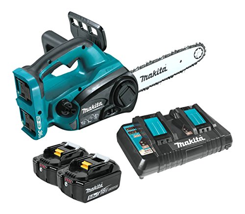 Makita XCU02PT 18V X2 (36V) LXT Lithium-Ion Cordless 12' Chain Saw Kit (5.0Ah),Teal