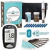 KETO-MOJO Bluetooth Blood Ketone and Glucose Testing Kit 10 Ketone & 10 Glucose Test Strips, 10 Lancets, 1 Meter, 1 Lancing Device, Monitor Your Ketogenic Diet