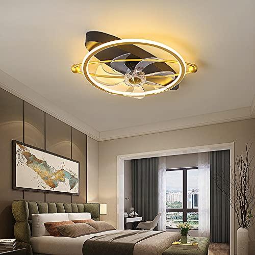 LANMOU Moderno Ventilador de Techo con Luz y Control Remoto, Lámpara Ventilador de Techo Silencioso LED Regulable Lámpara de Techo para Sala de Estar Pasillo, 50cm