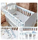 2PCS Baby Crib Cot Bumper Pads Protector de riel Protector de dentición, Cubierta del protector del riel de seguridad de la cama, Protector de cabeza lateral acolchado cuna, Juego cama recién nacidos