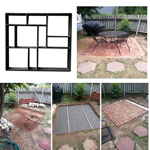 Oulensy DIY pavimentación Cemento Camino de baldosas de Piedra Molde de hormigón trayectoria del jardín del Molde del Fabricante