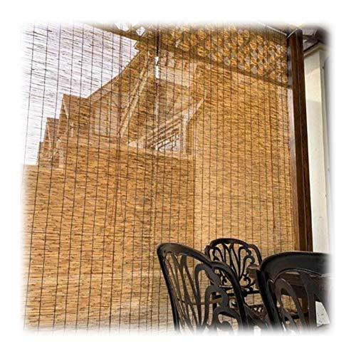 WYCD Bambusrollos für Aussen, Schilfvorhang Rollo, Sonnenschutz/Wärmeisolierung, Um den Innenraum Kühl Zu Halten, für Terrasse,Pavillon,Terrasse Dekoration