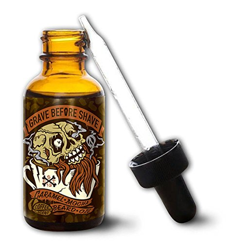 GRAVE BEFORE SHAVE Caramel Mocha Blend Beard Oil (Caramel Mocha Coffee scent) by Grave Before Shave