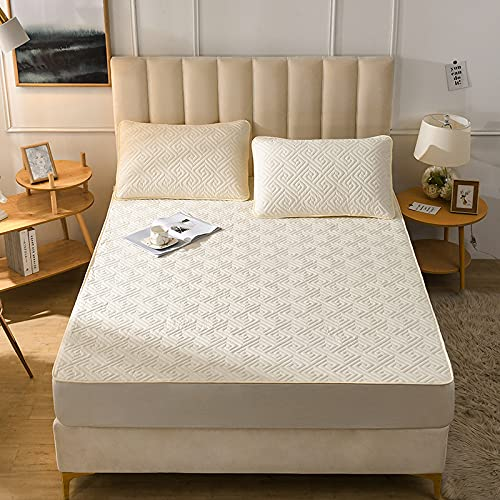IKITOBI Lenzuolo con angoli per letto matrimoniale, extra profondo e morbido, resistente alle rughe, 100 x 200 cm