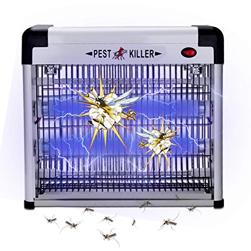 wolketon Elektrischer UV LED Insektenvernichter, Insektenkiller Moskito Killer Insektenfalle Mückenfalle, Mückenlampe 12w, 50m² für Schlafzimmer, Badezimmer