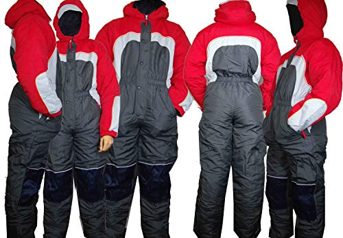 Moderei Auswahl an Schneeanzug | Schneeoverall Skianzug | Skioverall Snowboard Unisex | Jungen | Mädchen | Herren | Damen Schneeanzug (Rot,152-170) (158)