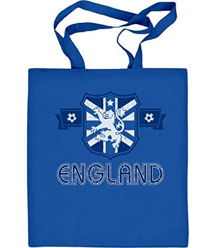 Shirtgeil England Fußball Trikot Fan Jutebeutel EM 2020 Jutebeutel Baumwolltasche One Size Blau