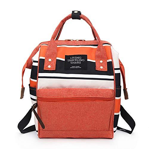CHQRucksack wasserdicht Oxford Stoff Student Tasche Computer Tasche Orange klein (25 * 17 * 41CM)