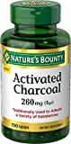Nature's Bounty Activated Charcoal 260 mg, 100 Capsules, Dietary Supplement to Support a Healthy Lifestyle