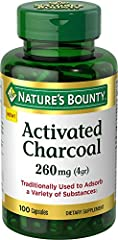 ACTIVATED CHARCOAL CAPSULES: Charcoal powder is used for health, beauty & oral care & has traditionally been used to adsorb toxins*. Our Activated Charcoal capsules contain 260 mg of activated charcoal /2 capsules & can be taken after meals as needed...