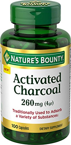 Nature's Bounty Activated Charcoal 260 mg, 100 Capsules, Dietary Supplement to Support a Healthy...