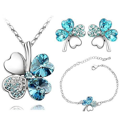AILUOR Four Leaf Trèfles Set de Bijoux, la Mode...