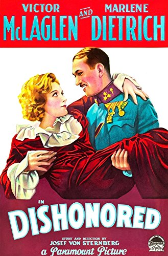 Price comparison product image Posterazzi Dishonored from Left On Us Art: Marlene Dietrich Victor Mclaglen 1931 Movie Masterprint Poster Print,  (24 x 36)