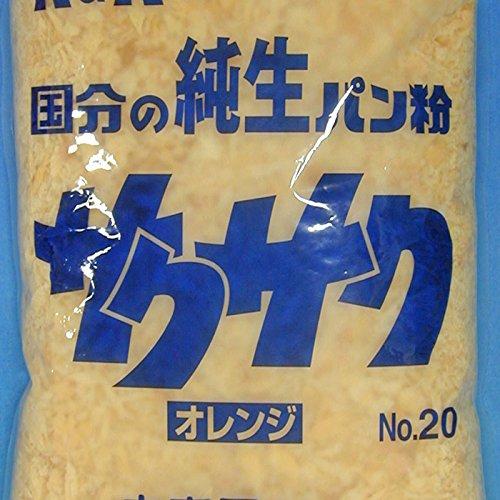 K&K 純生パン粉 サクサク オレンジ No.20 1kg×10袋入 【出荷時最低賞味期限保証残り25日】