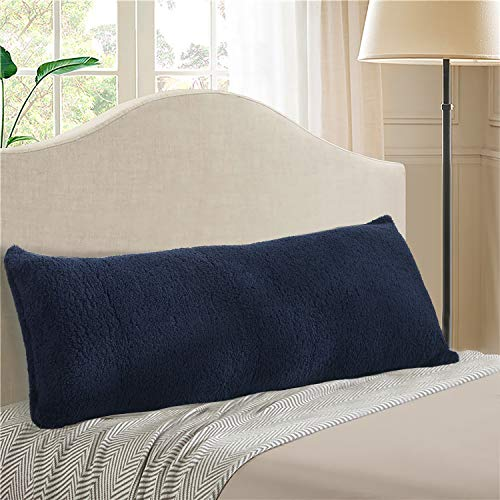 Reafort Ultra Soft Sherpa Body Pillow Cover/Case with Zipper...