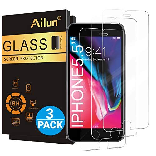 Ailun Screen Protector for iPhone 8 Plus/7 Plus/6s Plus/6 Plus-5.5 Inch 3Pack 2.5D Edge Tempered...