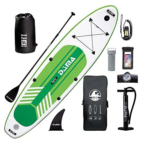 """DAMA Inflatable Stand Up Paddle Boards, 10'6''×31""""×6"""" Ultra-Light, Camera Mount Included with Stand Up Paddle Board, Adjustable Paddle, Pump, ISUP Travel Backpack, Waterproof Bag"""
