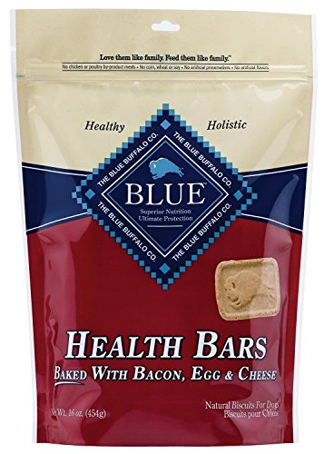 Blue Buffalo Health Bars for Dogs, Bacon, Egg and Cheese, 16-Ounce Bag(2Pack)