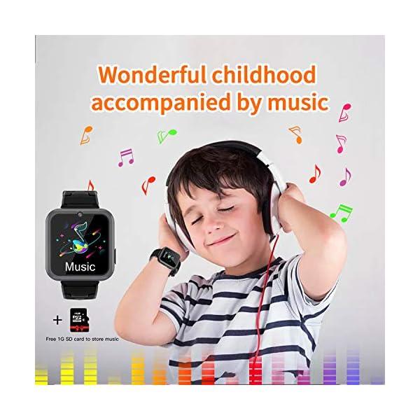 Smooce Smartwatch para Niños, Reloj Inteligente Niños Teléfono con 1.54 Pulgadas Pantalla Táctil, MP3 Música,Llamada SOS… 5