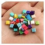 BOSAIYA EA01 100pcs Multicolor Miyuki TILA SEDEBEADS para Pulseras de joyería de Bricolaje Haciendo 2 Hoyos 5 * 2 * 2mm Tl427 (Color : 11)