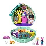 Polly Pocket Cofre con forma de poni, con muñecas y mascotas, juguete...