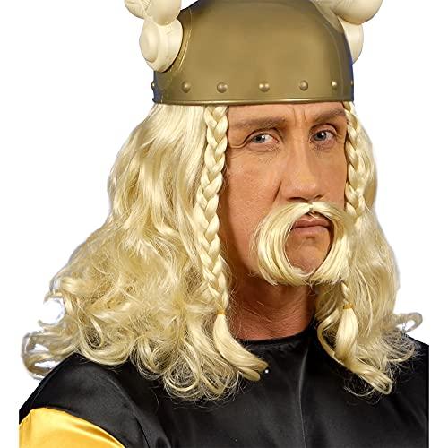 Widmann - Pe263 - Set perruque et moustache gaulois blond