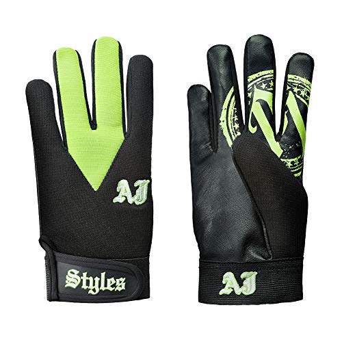 WWE Authentic Wear AJ Styles Green Replica Handschuhe